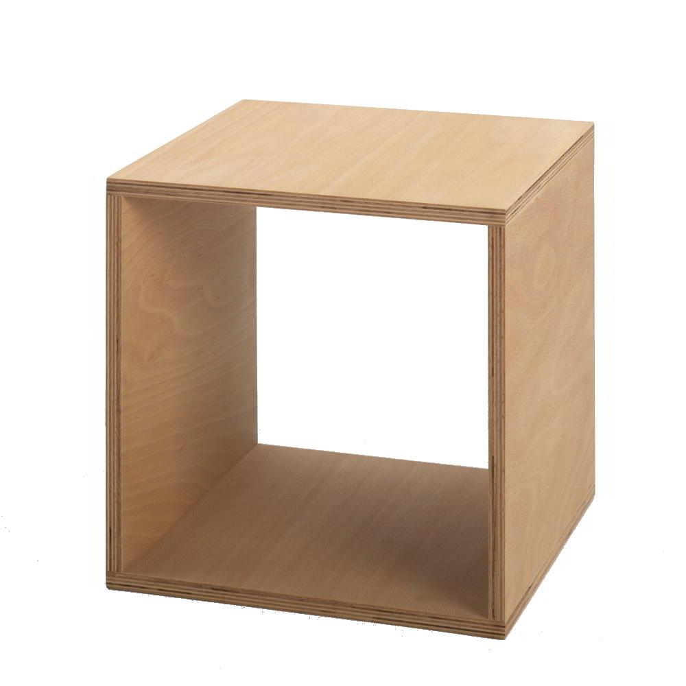 Tojo Cube Beistelltisch Buche Multiplex geölt