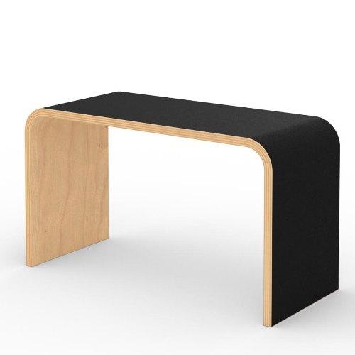 Tojo SIT Sitzhocker / Beistelltisch ledano schwarz
