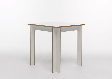 TOJO Tisch 75x75 cm, MDF weiß