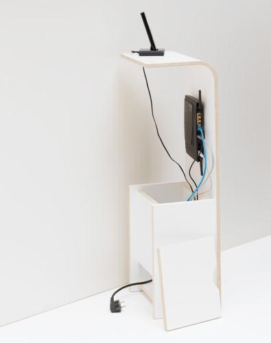 Tojo FON Telefonregal mit Aufbewahrungsbox für Netzteil