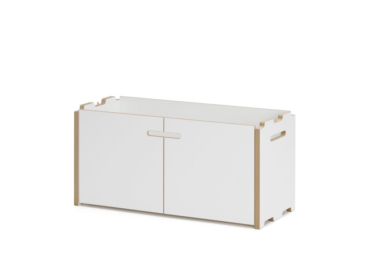 Tojo HOCHSTAPLER Regal Anbaumodul mit 2 Türen weiß