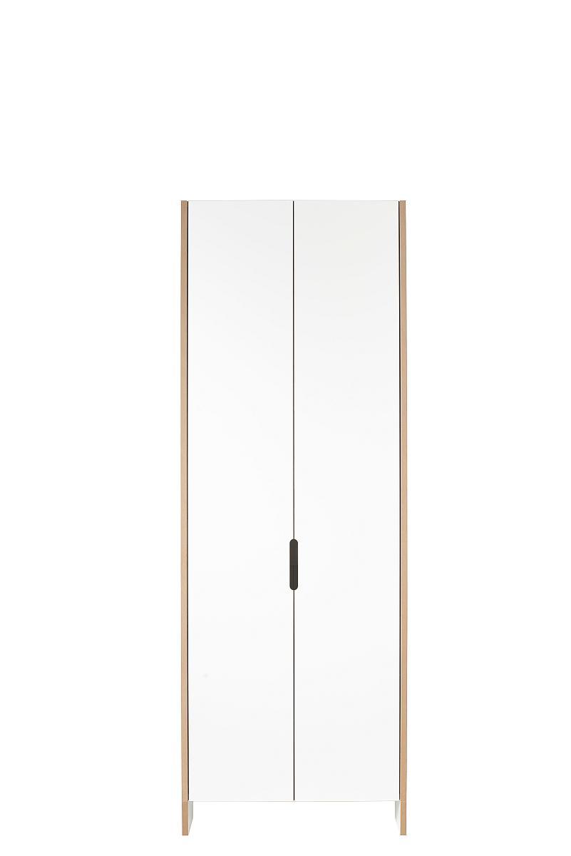 Tojo Flachmann Schuhschrank und Regalschrank mit zwei Türen, 198 cm hoch (gestellt)