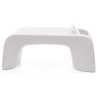 GROOVE Gartentisch 99 cm weiß