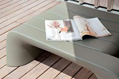 GROOVE Gartentisch, Farbe taubengrau
