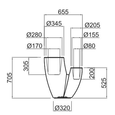 SAHARA Pflanzgefäß 70 cm - Technische Daten