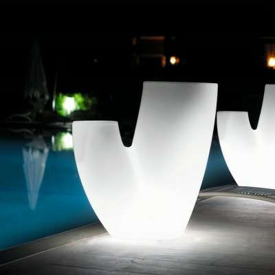 SAHARA Pflanzgefäß beleuchtet 70 cm Indoor mit SHORT-LED Beleuchtung