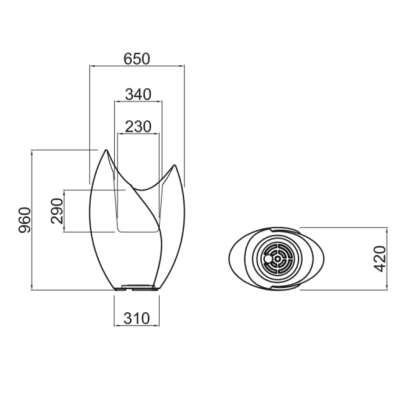 TAO Pflanzgefäß 96 cm - Technische Daten