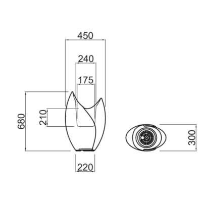 TAO Pflanzgefäß 68 cm - Technische Daten