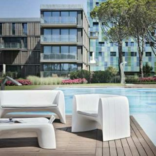 GROOVE Gartensofa mit Tisch und Sessel