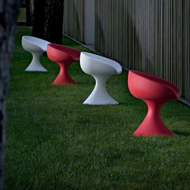 DAISY Gartensessel weiß und rot