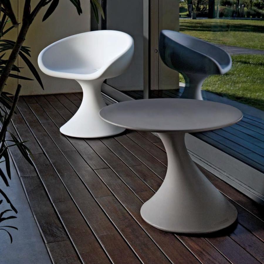 TOM Gartentisch taubengrau mit DAISY Sessel in weiß