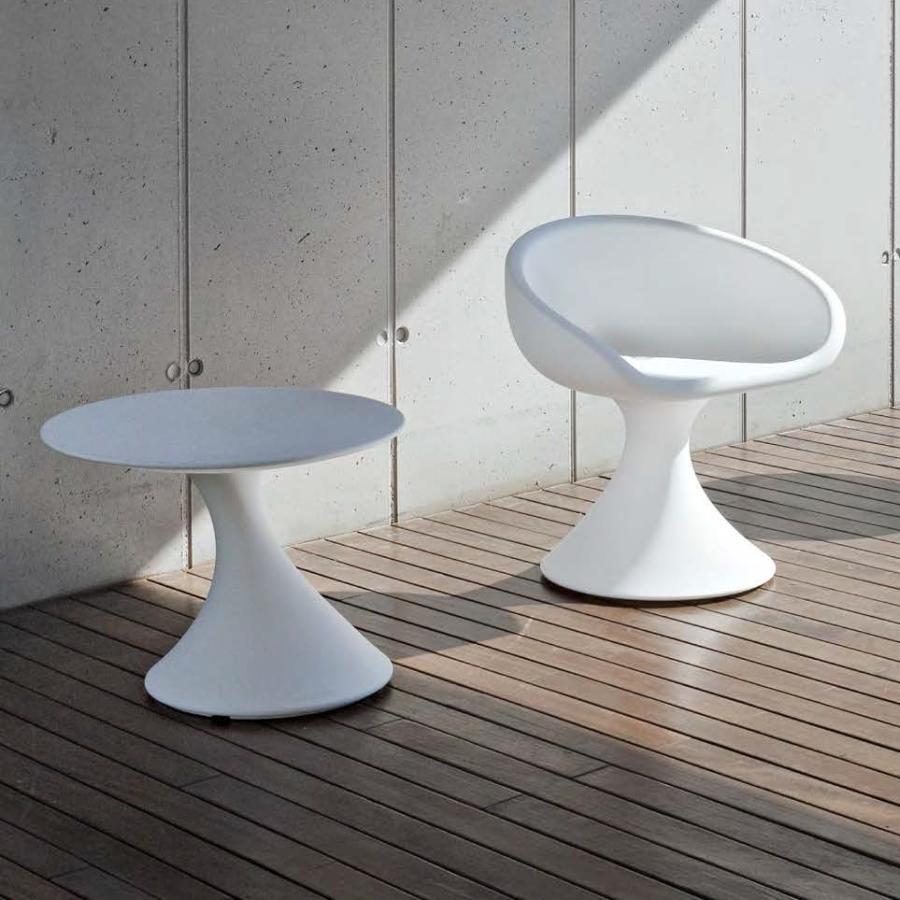 TOM Gartentisch und DAISY Gartenstuhl in weiß