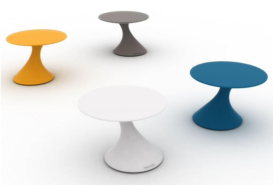 TOM Gartentisch, mandarin, taubengrau, weiß, aviator (blau)