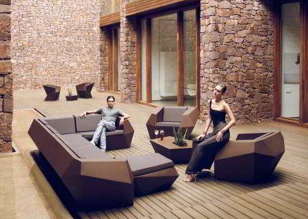 FAZ Gartenmöbel unbeleuchtet bronze