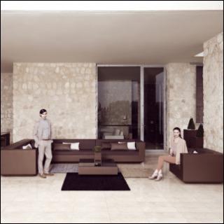 VELA Gartensessel und -sofa unbeleuchtet bronze