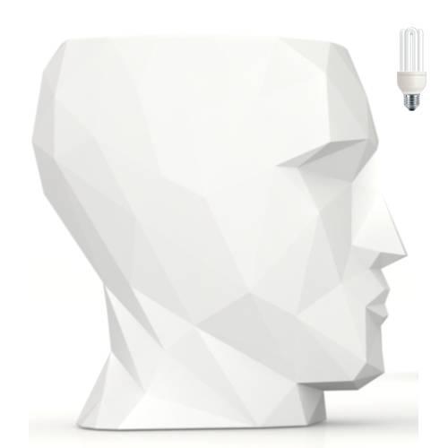 ADAN TISCH mit Beleuchtung, Höhe 70 cm, Gehäuse weiß