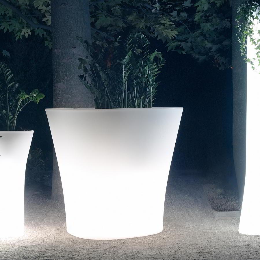 BONES Pflanzgefäß mit ESL-Beleuchtung