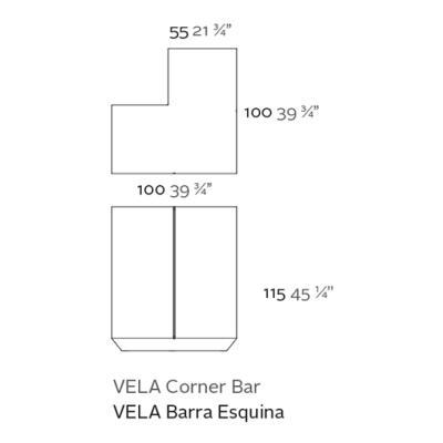 VELA Bar / Theke Corner Details