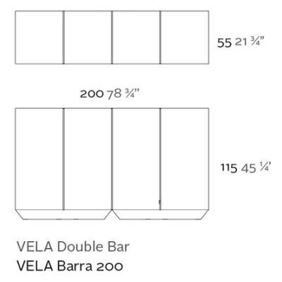 VELA Bar / Theke Double Details