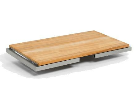 Terrassentisch Klappbar.Flip Gartentisch Klappbar 180 X 90 Edelstahl Teak Massiv