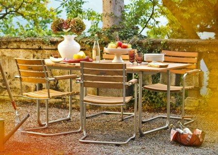 PRATO Tisch mit PRATO Stühlen, Teakholz