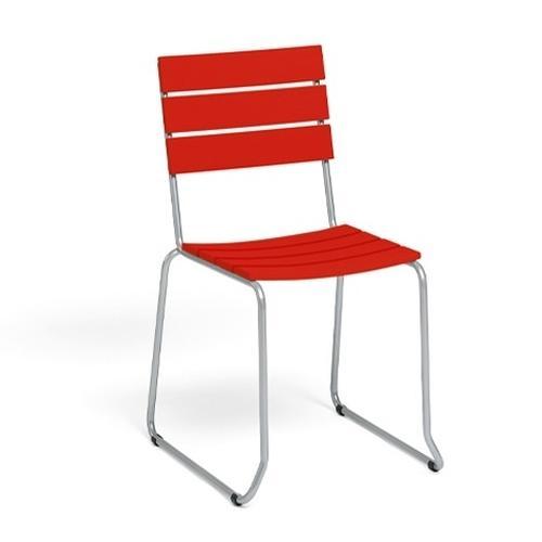 BALCONY Balkonstuhl, stapelbar Kunststoff rot