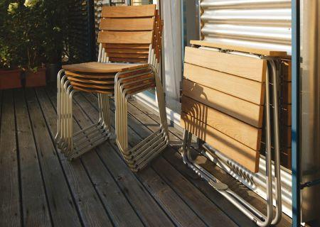 BALCONY Balkonstuhl stapelbar, mit Klapptisch