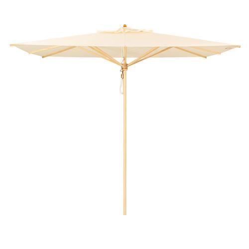 Klassiker Sonnenschirm quadratisch 190 cm Bezug nach Wunsch