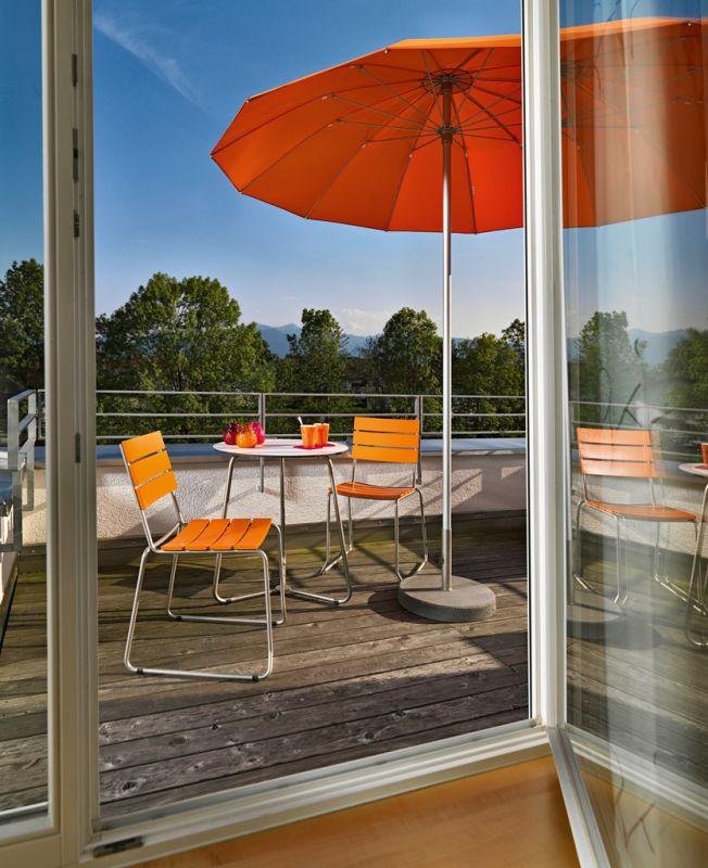 Pagodenschirm Sonnenschirm, mit Stuhl EASY