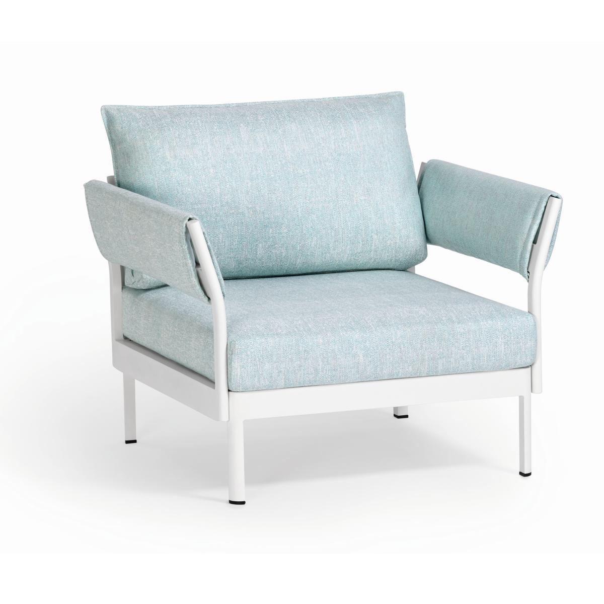 MINU Sessel mit 2x Armlehnen Gestell und Bezug nach Wunsch