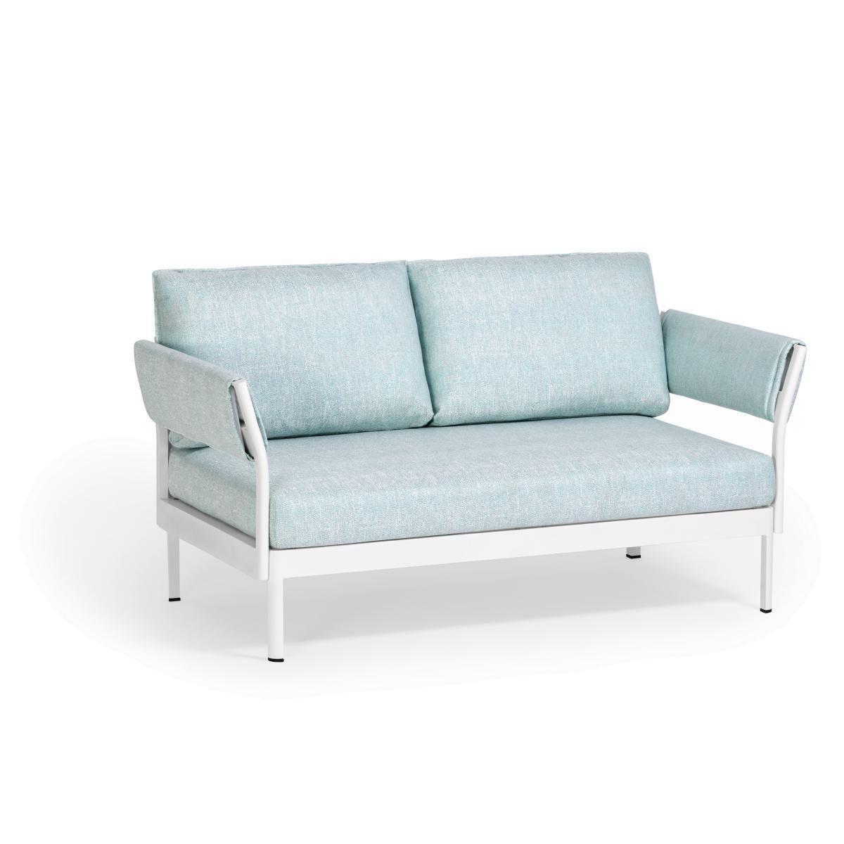 MINU Sofa 2-sitzig mit 2x Armlehne, Gestell und Bezug nach Wunsch