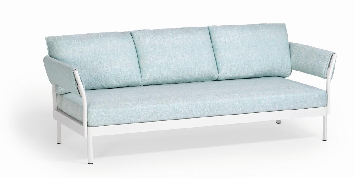 MINU Sofa 3-sitzig mit 2x Armlehne, Gestell und Bezug nach Wunsch