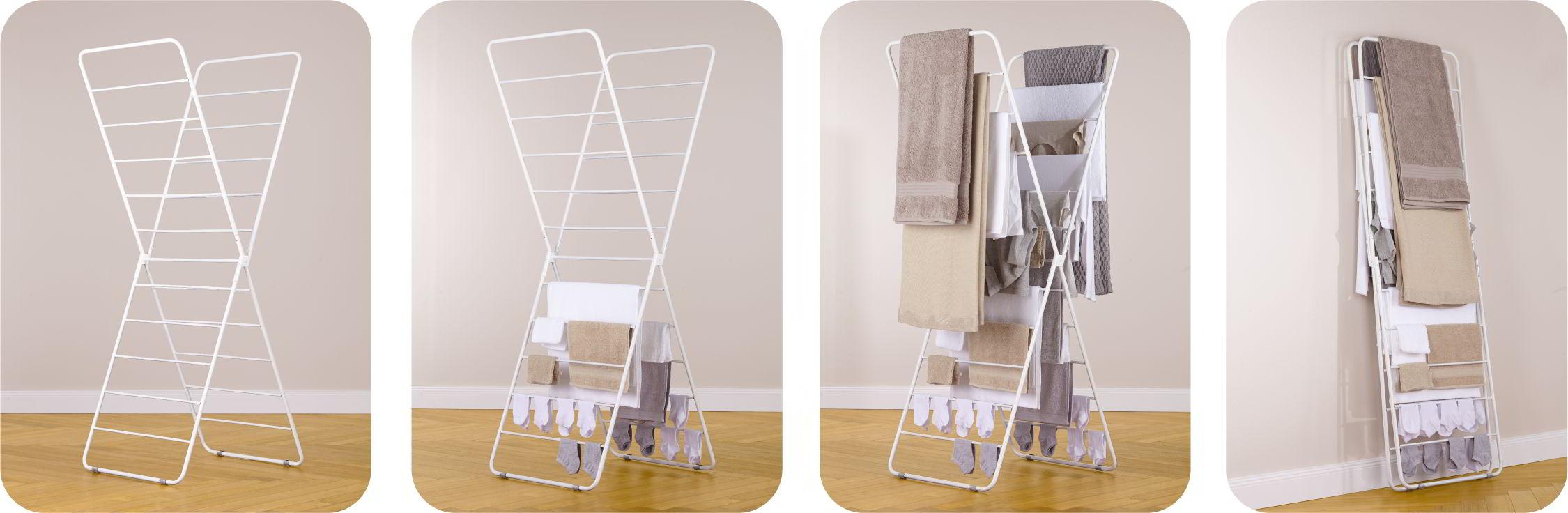 X-Dryer Wäscheständer, die einzelnen Stufen