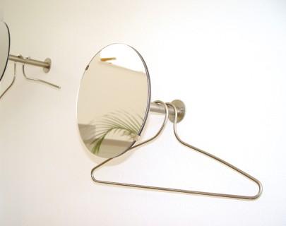 DISC Einzelgarderobe modular mit Spiegel und Bügel JAMES