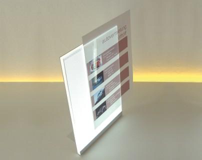 PLUSLUX beleuchteter LED-Bilderrahmen DIN A4