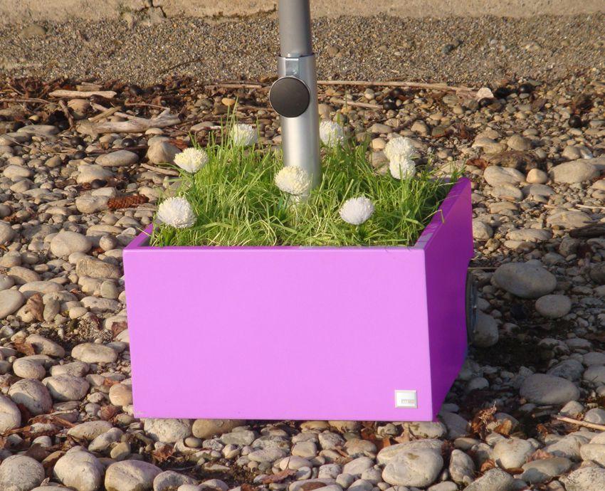 FLOWERPOWER Sonnenschirmständer pink