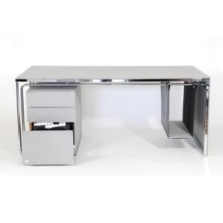 LEICHTBAU_DESK Schreibtisch mit Computeraufhängung und Aktenschrank